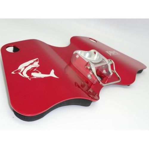 Placa de combate Dual Play Gimbal Pad Plate-Aluminum RED/SILVER