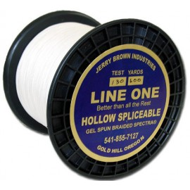 Jerry Brown Hollow Spectra  1200 yds 60 lbs white