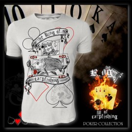 Camiseta de pesca HotSpot Desing THE KING OF CARPFISHING Talla XL