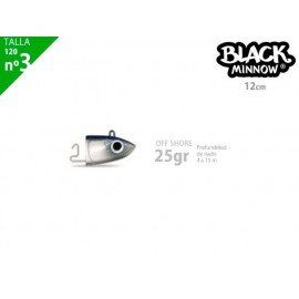 Cabeza plomada FIISH BLACK MINNOW 120 off shore 25g blue