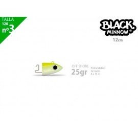 Cabeza plomada FIISH BLACK MINNOW 120 off shore 25g yellow fluo