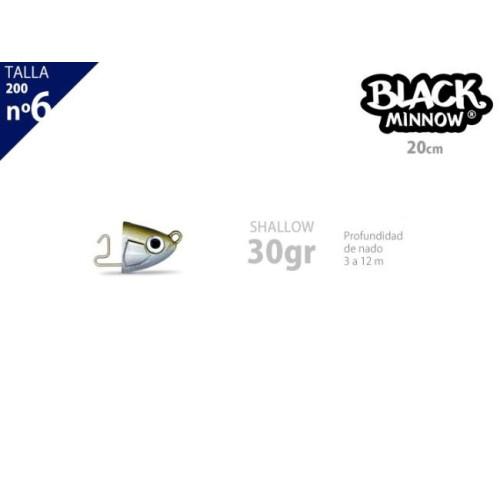 Cabeza plomada FIISH BLACK MINNOW 200 shallow 30g kaki