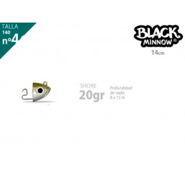 Cabeza plomada FIISH BLACK MINNOW 140 shore 20g kaki