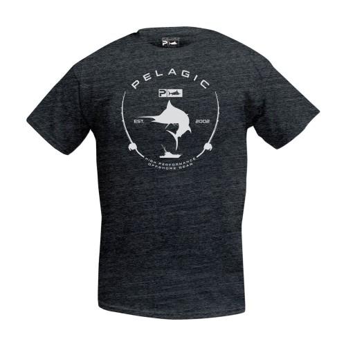 Camiseta de pesca PELAGIC PREMIUM ELECTRIC MARLIN TEE Talla L