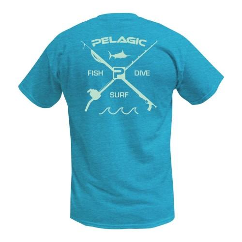 Camiseta de pesca PELAGIC PREMIUM ELECTRIC DORADO TEE Talla L