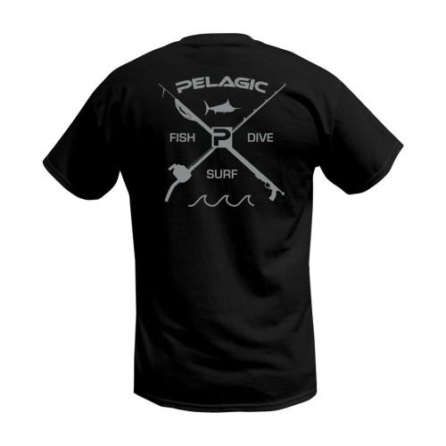 Camiseta de pesca PELAGIC PREMIUM FISH DIVE SURF TEE Talla M