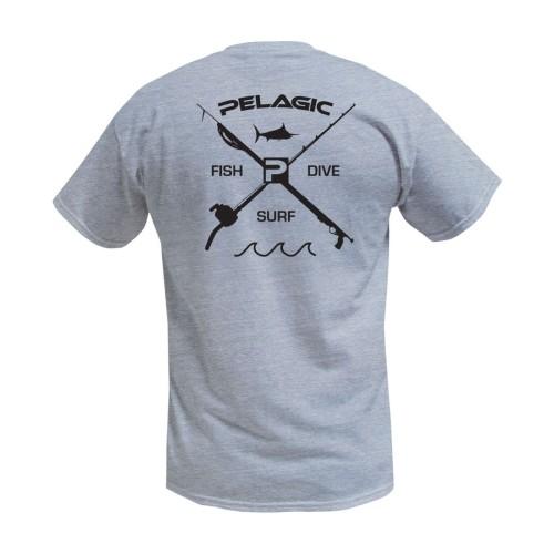 Camiseta de pesca PELAGIC PREMIUM FISH DIVE SURF TEE Talla L
