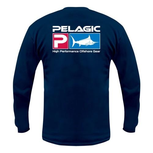 Camiseta de pesca PELAGIC DELUXE LS TEE Talla L