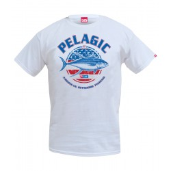 Camiseta de pesca PELAGIC RED WHITE TUNA TEE Talla M