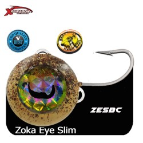 Señuelo ZOKA BALL EYES SLIM GLOW MIROR NIKEL 260 grs