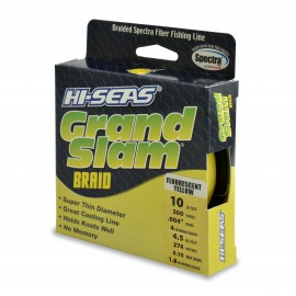 Grand Slam Braid, 10 lb, yellow