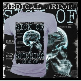 T-shirt HotSpot Desing SICK OF SPINNING Size M