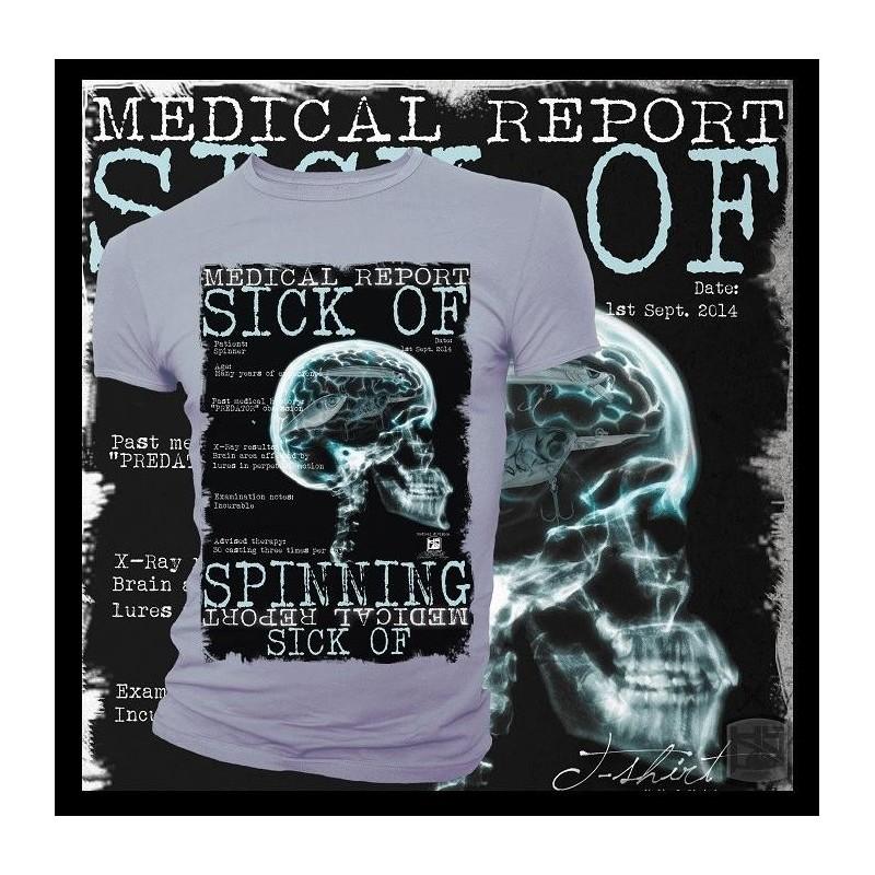 T-shirt HotSpot Desing SICK OF SPINNING Size M