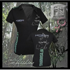Polo HotSpot Desing CARPFISHING Woman Size M